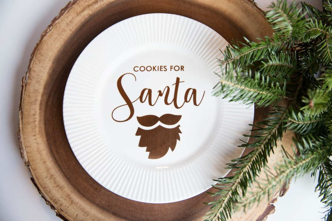 Christmas Plates Santa